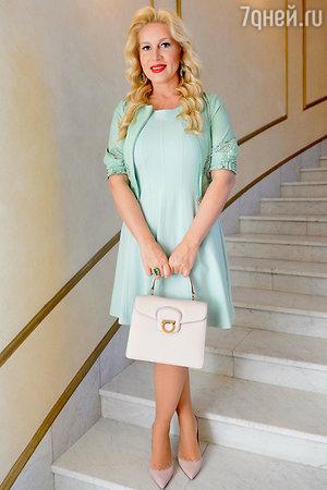Екатерина Одинцова на показе модной коллекции «DIEGO M»