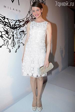 Наталия Лесниковская на показе модной коллекции «DIEGO M»