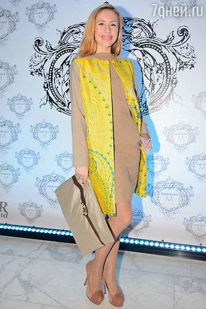 Анастасия Гребенкина на показе модной коллекции «DIEGO M»