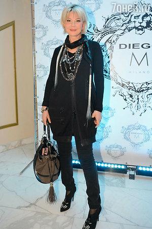Татьяна Веденеева на показе модной коллекции «DIEGO M»