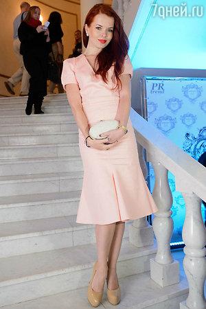 Лена Князева на показе модной коллекции «DIEGO M»