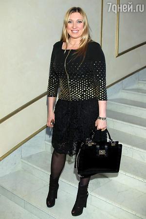 Светлана Мастеркова  на показе модной коллекции «DIEGO M»