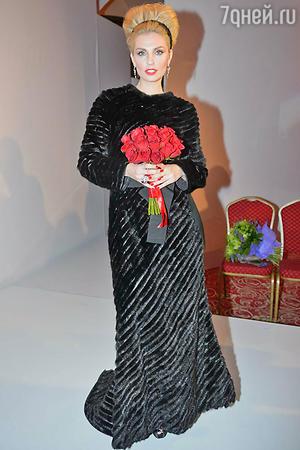 Александра Савельева  на показе модной коллекции «DIEGO M»