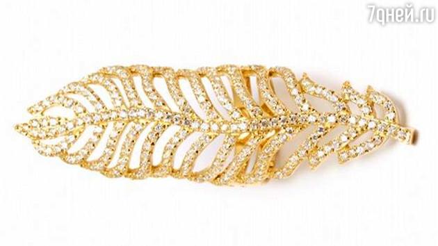 Позолоченное кольцо из серебра в форме пера Wanna?Be!