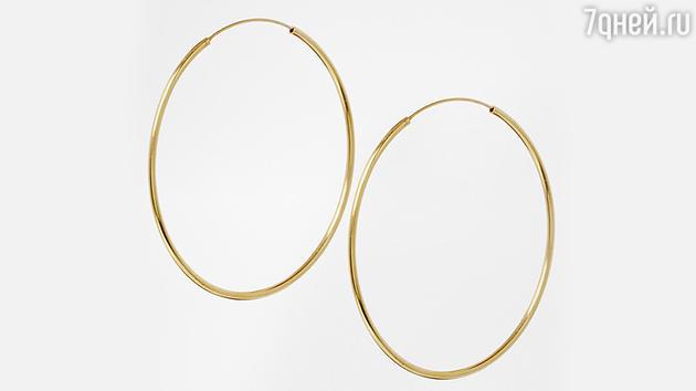 Серьги-кольца 60 мм из позолоченного серебра ASOS