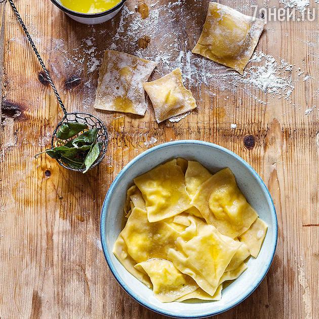 Равиоли с творожно-сырной начинкой