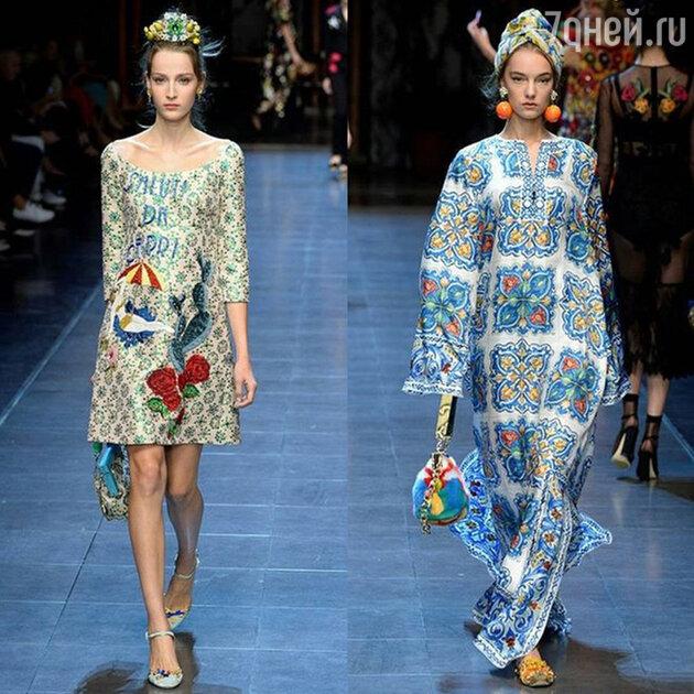 На показе Dolce&Gabbana