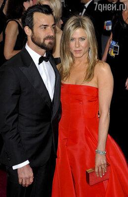 Дженнифер Энистон и Джастин Теру на церемонии вручения премии «Оскар». 2013 г.