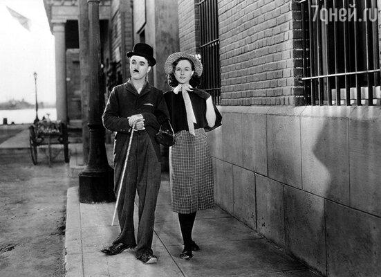 Чарли Чаплин и Полетт Годдар  в фильме «Новые времена», 1936 год