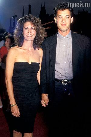Том Хэнкс и Рита Уилсон. 1987 г.