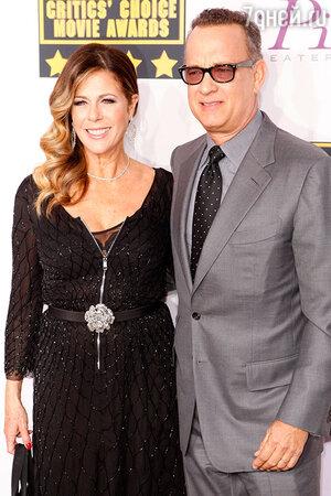 Том Хэнкс и Рита Уилсон. 2014 г.