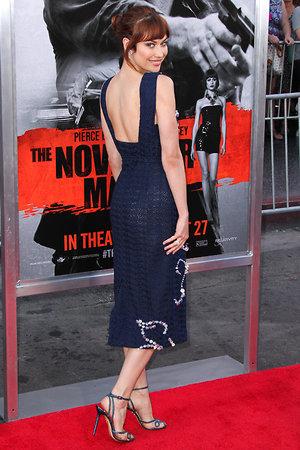 Ольга Куриленко в платье от Michael van der Ham на премьере фильма «Человек ноября» в Лос-Анджелесе