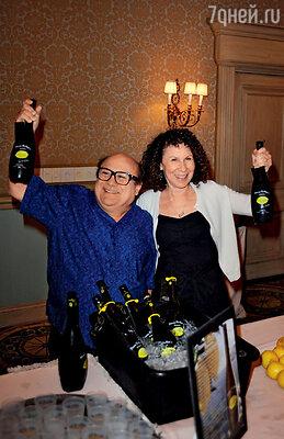 С женой Реа на презентации семейного бизнеса — итальянского ликера «Лимончелло». Новый Орлеан, июль 2009 г.