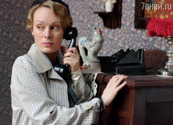 Ольга Ломоносова на съемках сериала «Черные кошки»