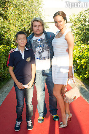 София Кальчева с сыном Богданом и Николай Басков