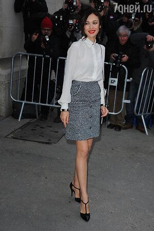 Ольга Куриленко на показе Dior, январь 2014