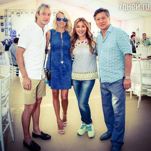 Анита и Сергей Цой с Яной Рудковской и Евгением Плющенко