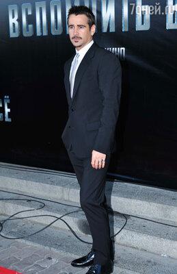 Колин Фаррелл на премьере фильма «Вспомнить все» в Москве