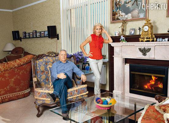 Евгений Болдин с женой Мариной Лях
