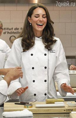 Кейт в кулинарной школе