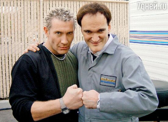 С Квентином Тарантино на съемках сериала «Шпионка»