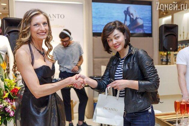 Марина Кравец и главный дизайнер бренда Клаудия Санторо