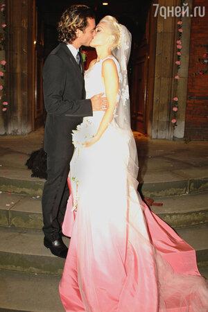 Гэвин Россдэйл и Гвен Стефани в платье от Christian Dior