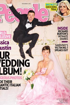 Джастин Тимберлейк и Джессика Бил в платье от Giambattista Valli