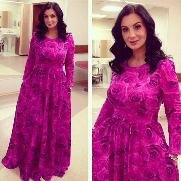 Екатерина Стриженова в платье «Вирджиния» от российского бренда Bella Potemkina