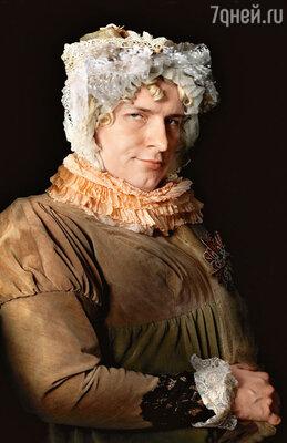 Страдания Баскова оказались ненапрасными. Егопортрет, в основу которого легла картина Джорджа Доу «Ливен Шарлотта Карловна, светлейшая княгиня» украсил коллекцию Екатерины Рождественской «Мужчина иженщина». 2004 г.