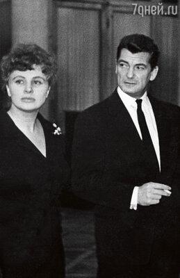 Алла Ларионова и  Жан Маре в Москве на Неделе французского кино. 1961 г.