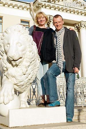 Алексей Серебряков с женой