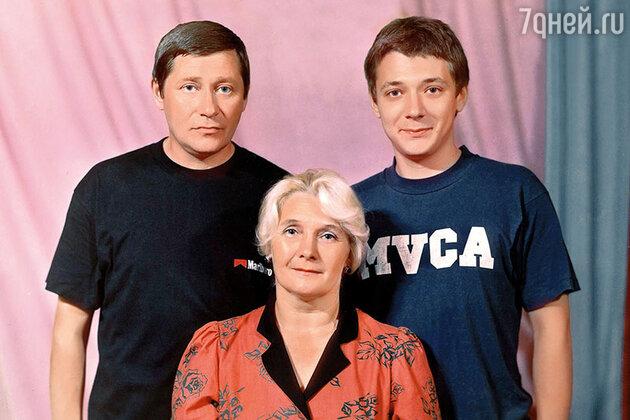 Ян Цапник  с родителями