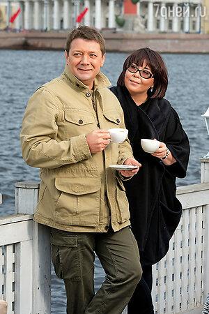 Ян Цапник с женой