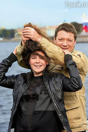 Ян Цапник с дочерью