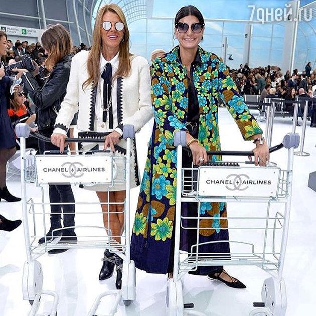 Анна Делло Руссо на показе Chanel