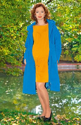 На Елене платье и пальто Parole:lei