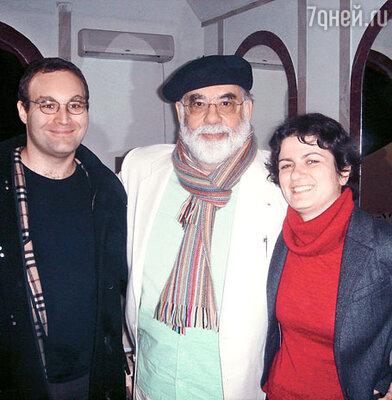 Фрэнсис Форд Коппола со Львом Журбиным и его супругой Инной