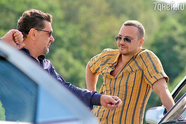 Алексей Чадов и Сергей Маковецкий на съемках фильма «Ч/Б»