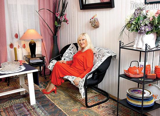 Дача Ирины Мирошниченко очень уютна внутри...