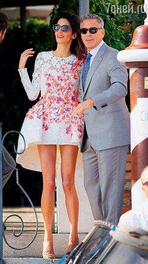 Амаль Аламуддин с мужем Джорджем Клуни