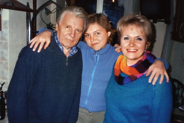 Людмила Гаврилова и Юрий Назаров с дочерью