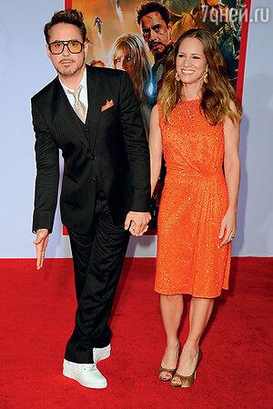 Роберт Дауни-младший с женой