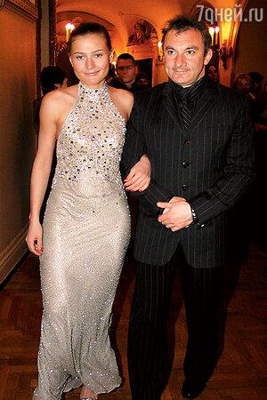 Мария Голубкина с мужем Николаем Фоменко. 2004 г.