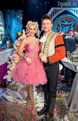 На съемках новогоднего выпуска музыкальной передачи «Две звезды» в телецентре «Останкино»