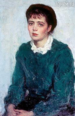 Фото репродукции портрета Нины Виноградовой-Бенуа кисти Ильи Глазунова