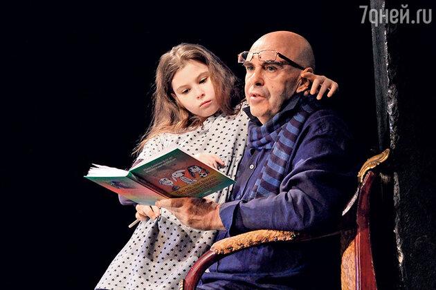 Михаил Левитин с дочкой Машей