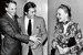 Владимир Наумов, Наталия Белохвостикова и Ален Делон напремьере фильма «Тегеран-43». 1980 г.