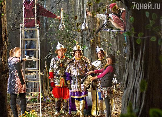 Гальцев, Стоянов иАскаров в образе трехбогатырей квыполнению царского приказа готовы!
