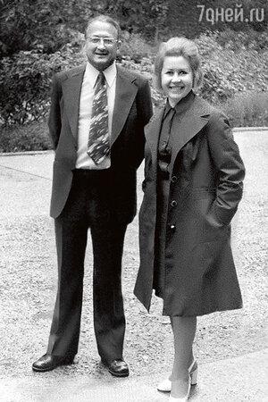 Инна Макарова с мужем Михаилом Перельманом. 1980-е гг.